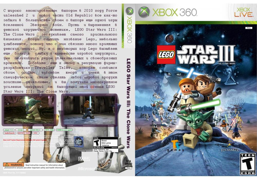 Игра для игровой консоли Xbox 360, LEGO Star Wars III: The Clone Wars