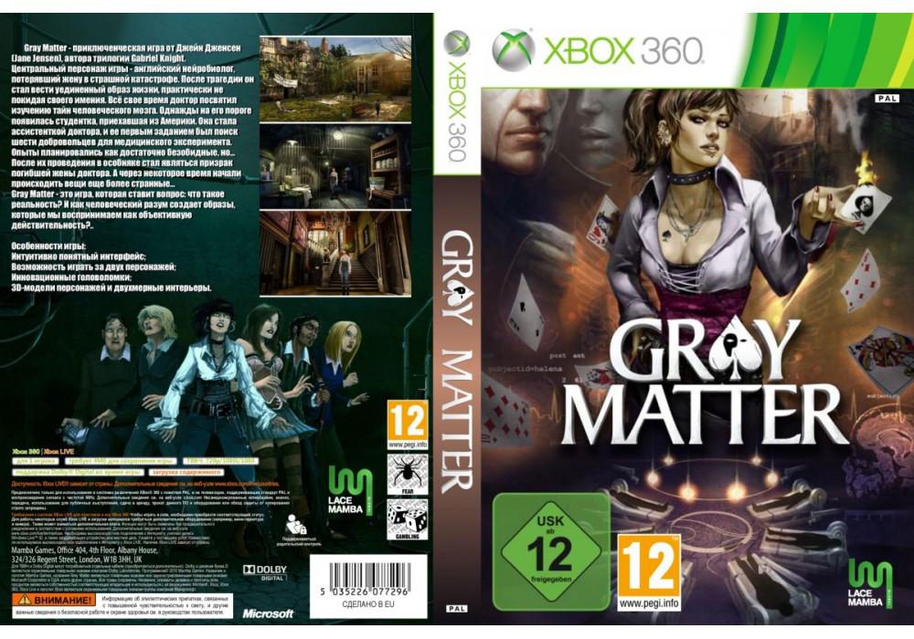 Игра для игровой консоли Xbox 360, Gray Matter