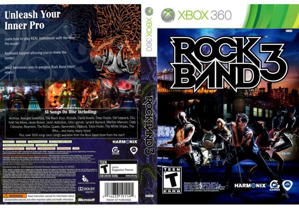 Игра для игровой консоли Xbox 360, Rock Band 3
