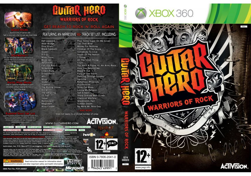 Игра для игровой консоли Xbox 360, Guitar Hero: Warriors of Rock