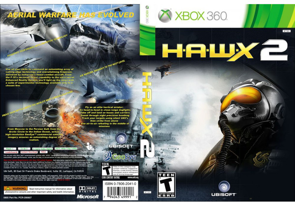 Игра для игровой консоли Xbox 360, Tom Clancy's H.A.W.X. 2