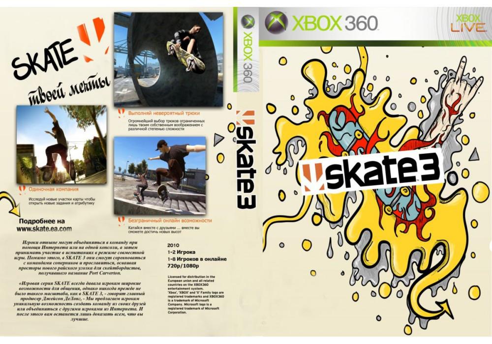 Игра для игровой консоли Xbox 360, SKATE 3