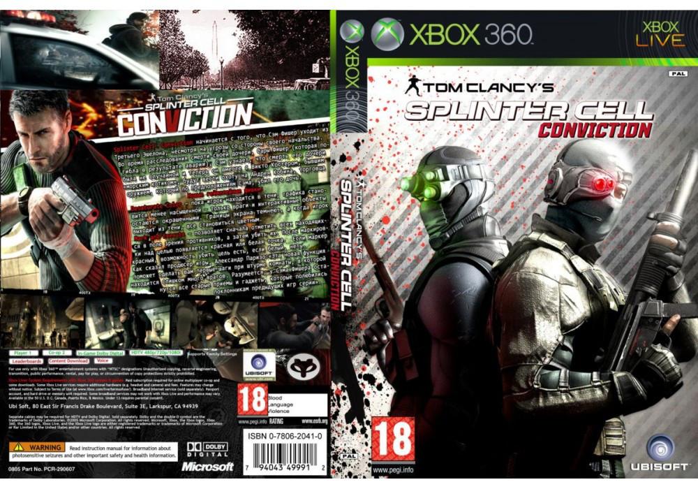 Игра для игровой консоли Xbox 360, Tom Clancy`s Splinter Cell: Conviction