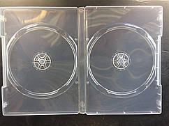 Бокс для 2 DVD диска 14mm напівпрозорий трей, глянцева плівка