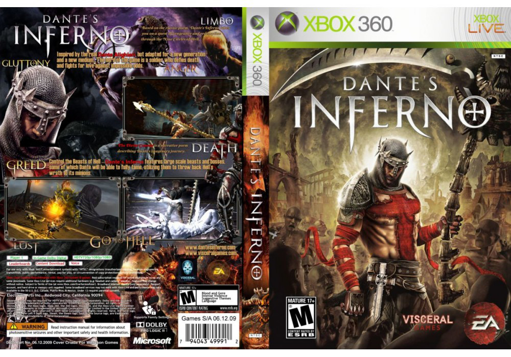 Игра для игровой консоли Xbox 360, Dante's Inferno
