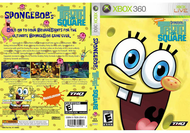 Игра для игровой консоли Xbox 360, SpongeBob's Truth or Square, фото 2