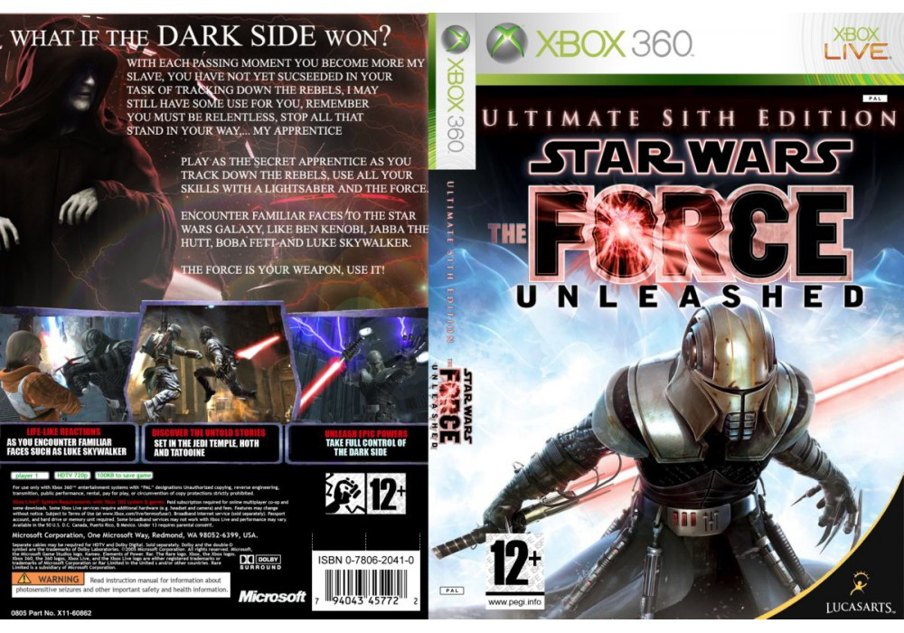 Игра для игровой консоли Xbox 360, Star Wars: The Force Unleashed - Ultimate Sith Edition