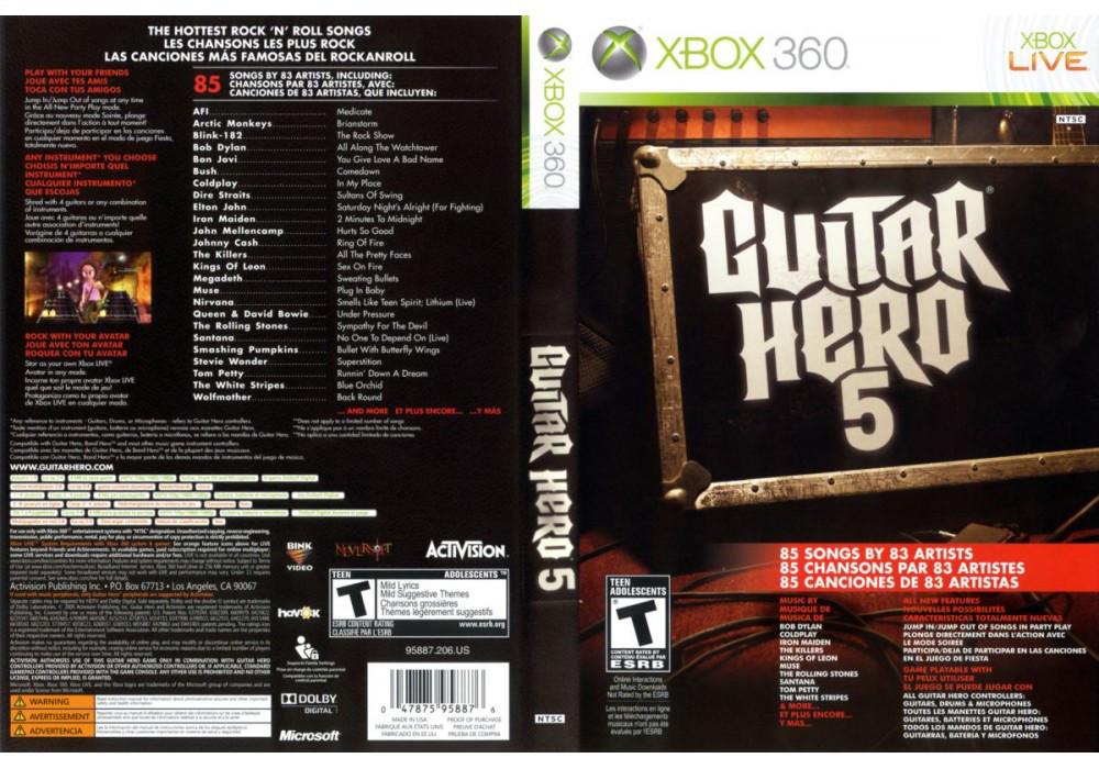 Игра для игровой консоли Xbox 360, Guitar Hero 5