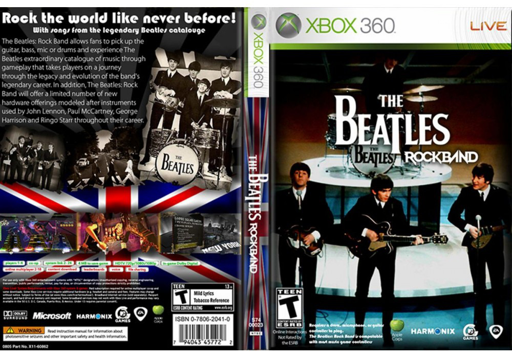 Игра для игровой консоли Xbox 360, The Beatles: Rock Band