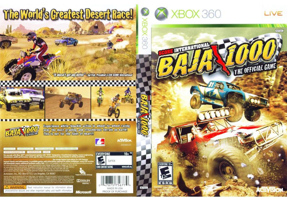 Игра для игровой консоли Xbox 360, SCORE International Baja 1000