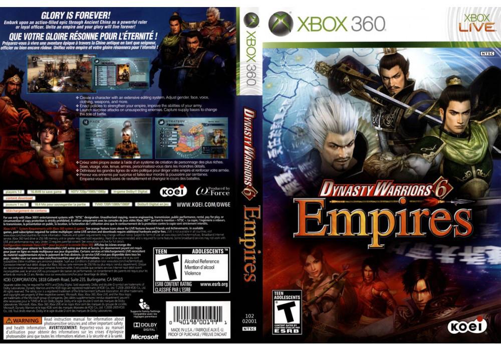 Игра для игровой консоли Xbox 360, Dynasty Warriors 6 Empires