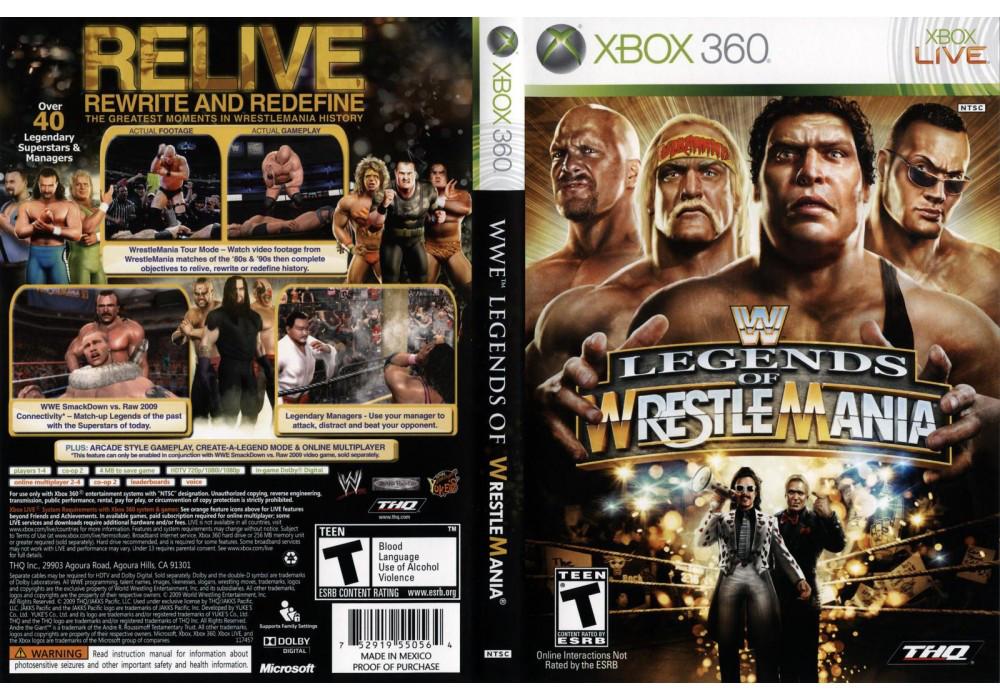 Игра для игровой консоли Xbox 360, WWE Legends of WrestleMania