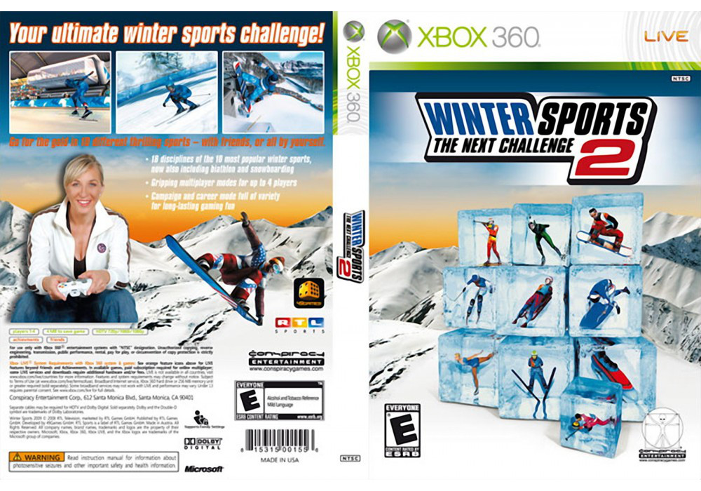 Игра для игровой консоли Xbox 360, Winter Sports 2: The Next Challenge