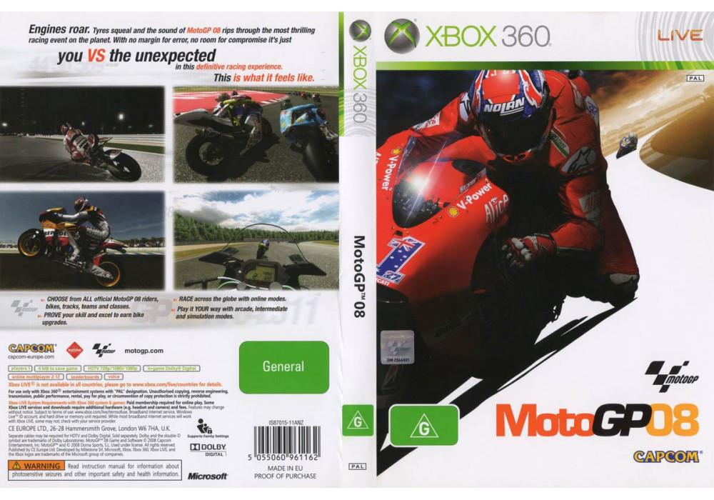 Игра для игровой консоли Xbox 360, Moto GP 08