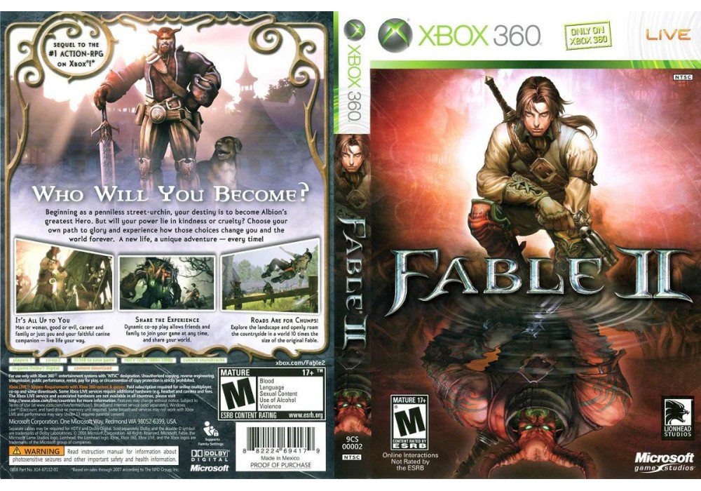 Игра для игровой консоли Xbox 360, Fable 2