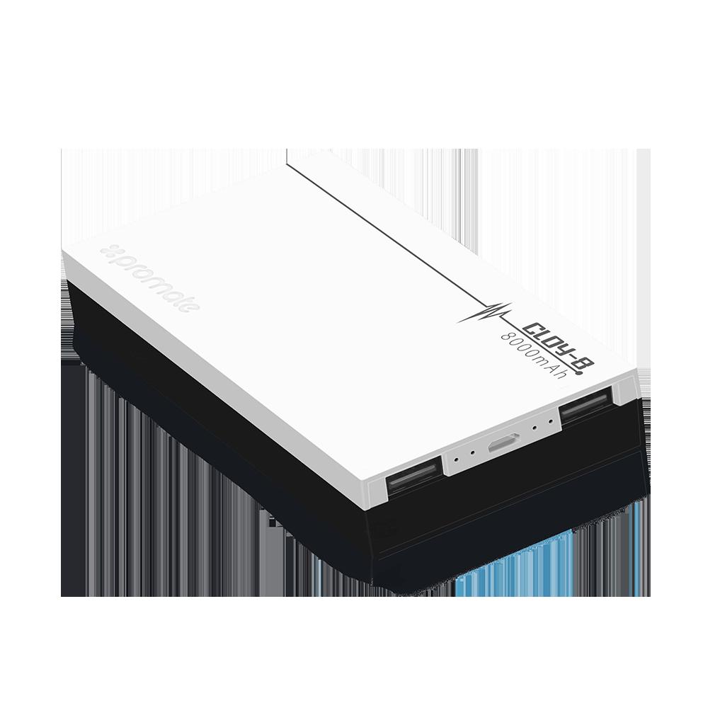 Компактный аккумулятор Promate Cloy-8 White