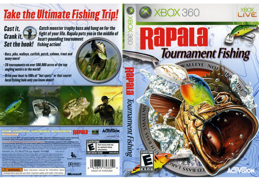 Игра для игровой консоли Xbox 360, Rapala Tournament Fishing