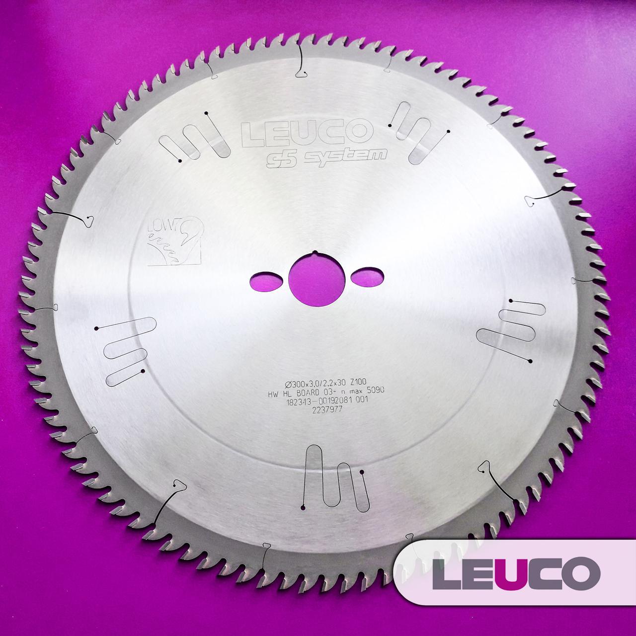 Дисковая пила для ПВХ Leuco 300х3,0х2,2х30 z=100 (для идеально чистого реза)