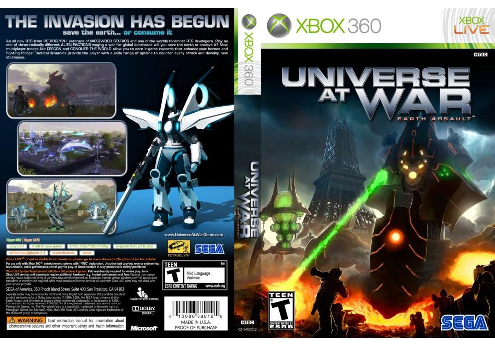 Игра для игровой консоли Xbox 360, Universe At War Earth Assault