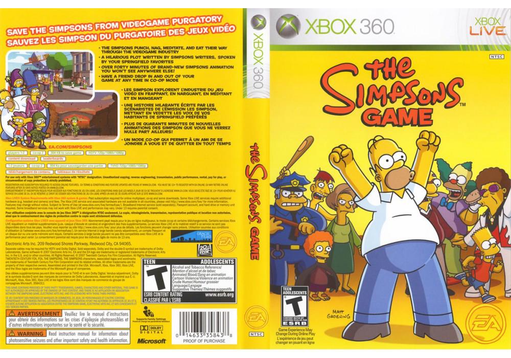 Игра для игровой консоли Xbox 360, The Simpsons Game