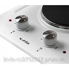 Варочна поверхня електрична VentoLux HE302 (BK) 2, фото 3