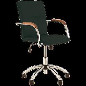 Кресло офисное Samba GTP механизм Tilt крестовина CHR10 ткань ZT-25, подлокотники 1.031 (Новый Стиль ТМ)