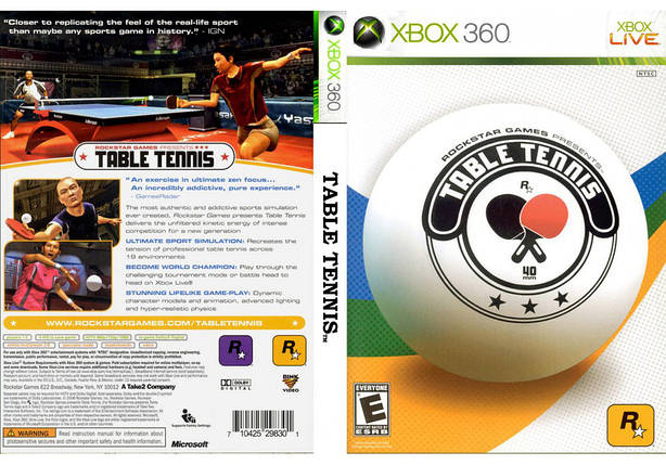 Игра для игровой консоли Xbox 360, Table Tennis, фото 2