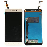 Модуль Lenovo A6020a40 Vibe K5   золотой, с желтым шлейфом (дисплей + сенсор)