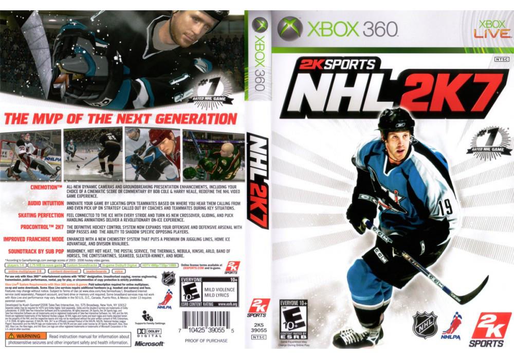 Игра для игровой консоли Xbox 360, NHL 2K7