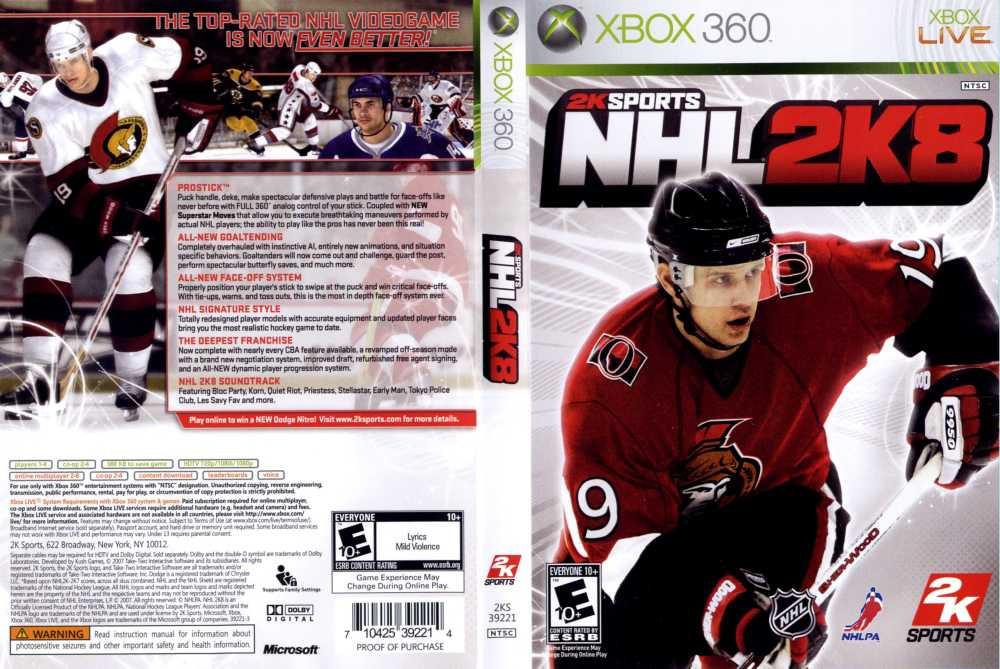 Игра для игровой консоли Xbox 360, NHL 2K8