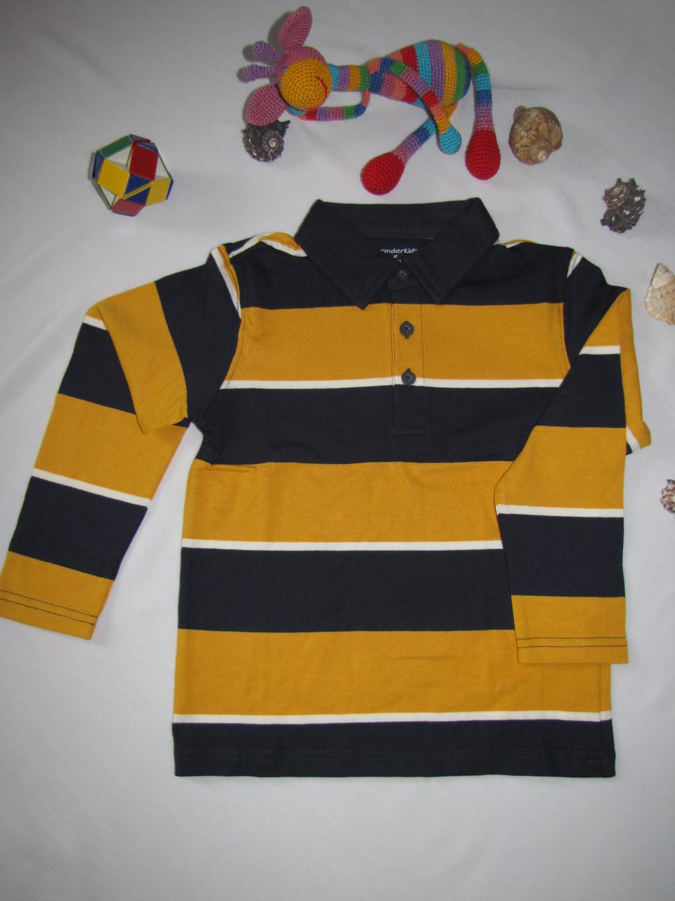 Футболка с длинными рукавами Wonder Kids оригинал рост 104 см желтая 07040