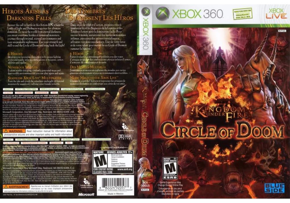 Игра для игровой консоли Xbox 360, Kingdom Under Fire: Circle of Doom