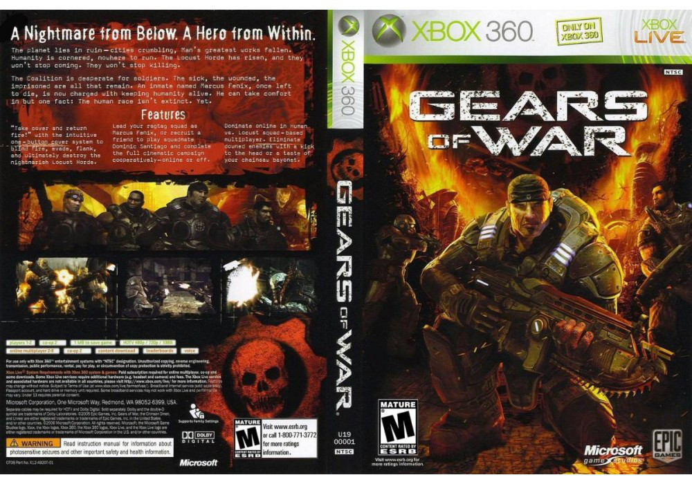 Игра для игровой консоли Xbox 360, Gears of War