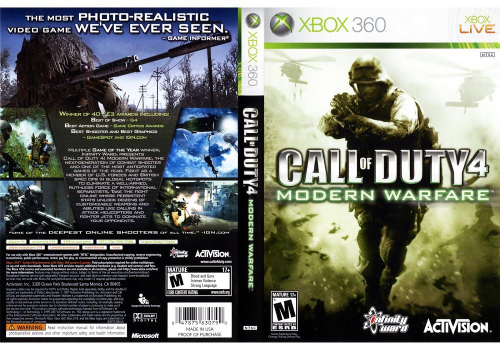 Гра для ігрової консолі Xbox 360, Call of Duty 4: Modern Warfare