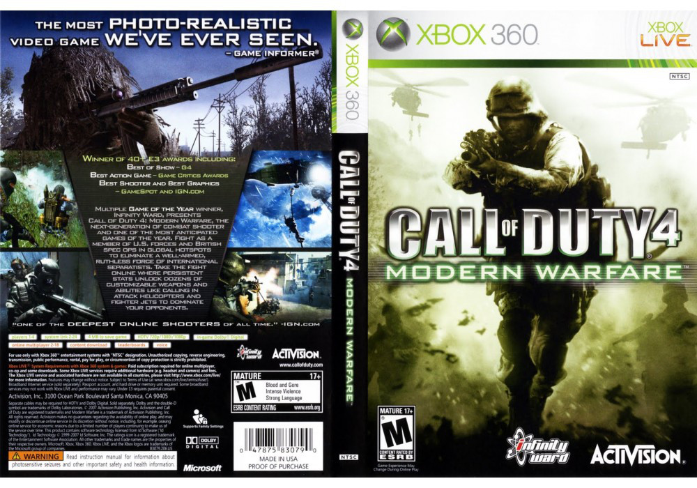 Игра для игровой консоли Xbox 360, Call of Duty 4: Modern Warfare
