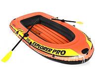 Полутораместная надувная лодка Intex 58358 Explorer Pro 300 Set с веслами и насосом (244*117*36 см)
