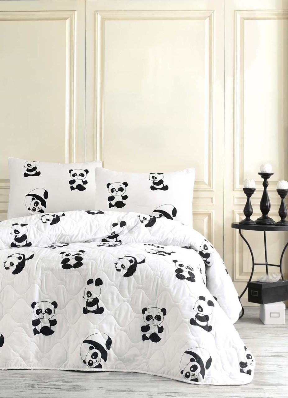 Покривало стьобане з наволочкою 160х220 Panda Home Eponj