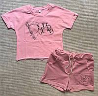 Детский комплект шорты и футболка для девочки 6-7 лет