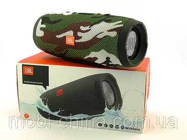 JBL Charge3 E3 20W копія, портативна колонка з Bluetooth FM MP3, Squad камуфляжна
