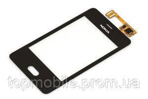 Сенсор Nokia 501 Asha, черный (тачскрин, стекло)