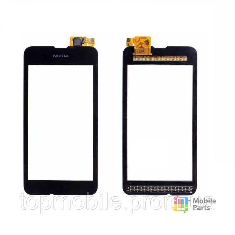 Сенсор Nokia 530 Lumia (RM-1017/RM-1019), черный (тачскрин, стекло)