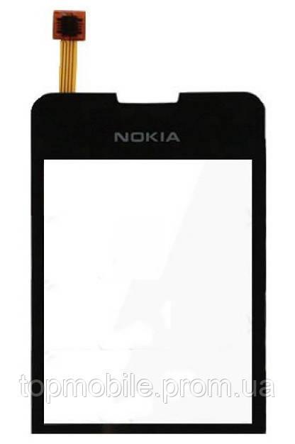 Сенсор Nokia 6208, черный (тачскрин, стекло)
