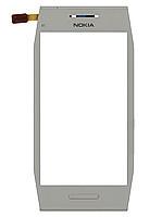 Сенсор Nokia X7-00, белый, с передней панелью  (тачскрин, стекло)
