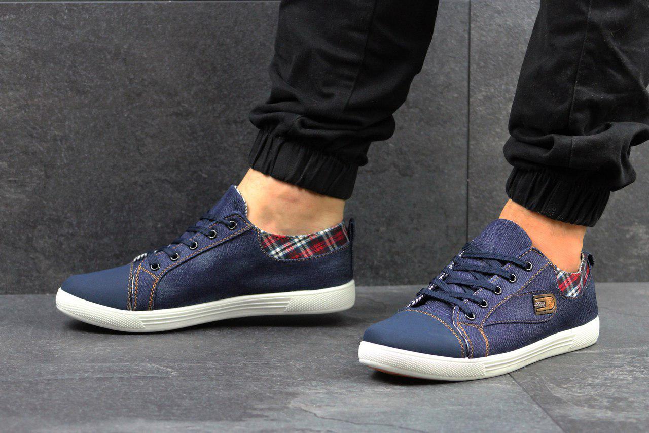 fa7d113e Кеды мужские джинсовые низкие молодежные легкие на каждый день (синие)