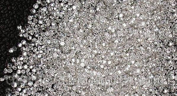 Бриллиант натуральный природный в Украине 10шт по 1.3 мм 0.01 карат