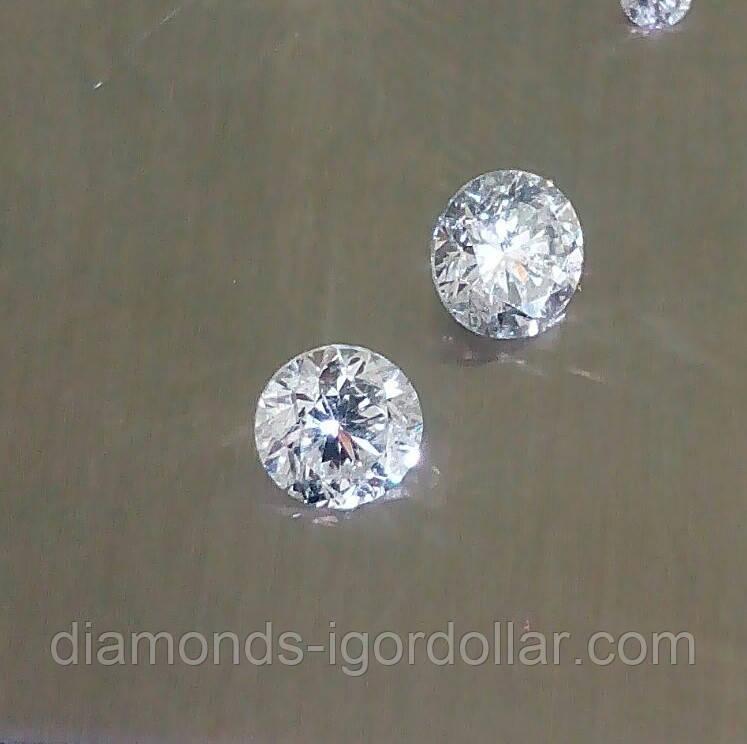 Бриллиант натуральный природный в Украине 3 мм 0.1 карат