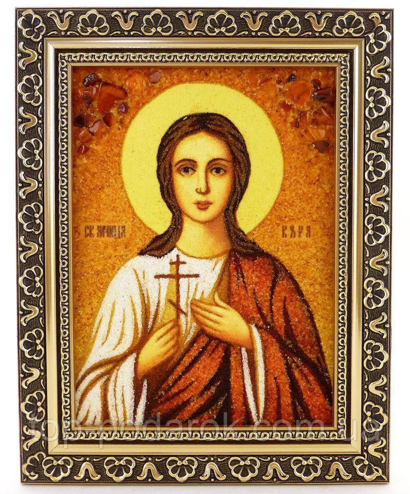 Икона из янтаря именная Вера іі-173