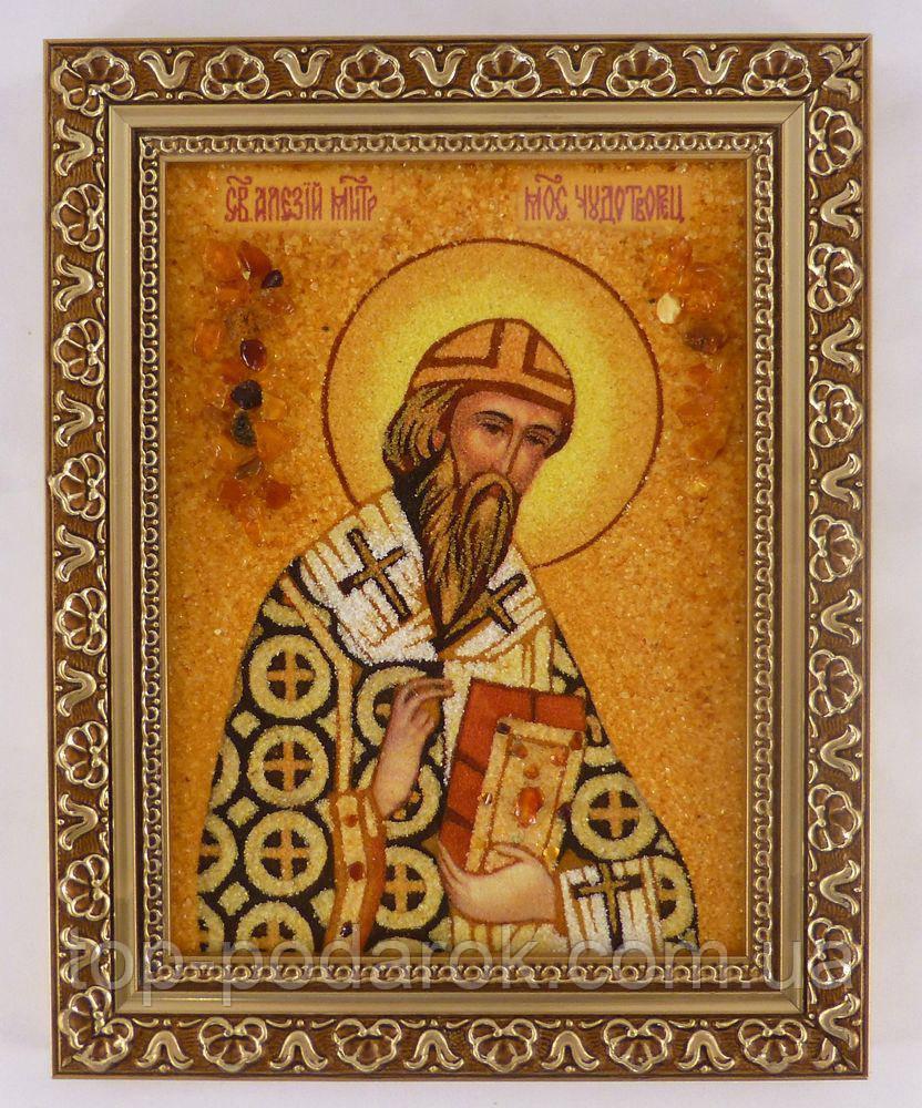 Ікона з янтаря іменна Олексій іі-05