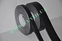 Тактильная самокляющаяся лента 25мм. цвет черный