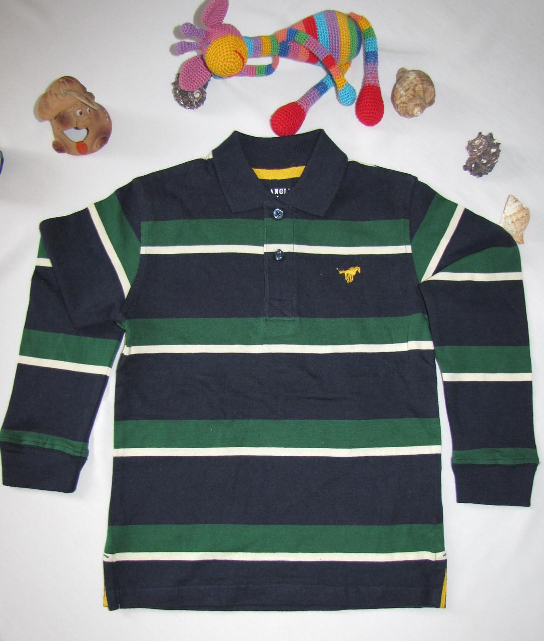 Футболка с длинными рукавами Wrangler jeans оригинал рост 110 см зеленая+темно синяя 07027